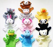 Lot of 10 Cute Cartoon Animal Hand Puppet Doll Baby Plush Soft Toy Story Helper