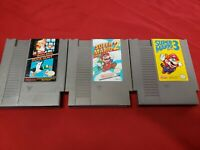 Mario Bros 1 2 & 3 NES Nintendo GENUINE AUTHENTIC ORIGINAL VINTAGE CARTRIDGES