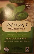 10 boxes of Numi Organic Tea Bags Moroccan Mint (180 tea bags) exp in 2019