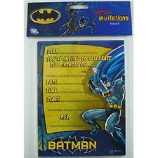 Batman Boys Birthday Party Invitations Invites Bat Man Supplies X 8