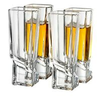 JoyJolt Carre Shot Glasses, 4 Piece 1.8 oz Square Heavy Base Shot Glasses