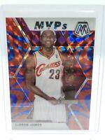 2019-2020 Panini Mosaic Reactive Blue Prizm Lebron James MVP #298 Cleveland Cavs