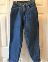 Vtg Womens LL Bean DOUBLE L Relaxed Flannel Lined High Waist Denim Jeans Size 6
