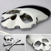 1x Car Auto Truck 3D Metal Skull Head Bone Logo Modified Emblem Sticker Decal