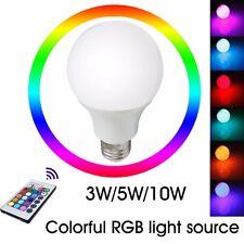 E27 3W/5W/10W  Lámpara Globo LED RGB Cambio De Color Control Remoto Luz Bombilla