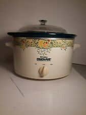 Vintage Rival 5 Quart Slow Cooker Crock Pot 3350 w/ Removable Crock