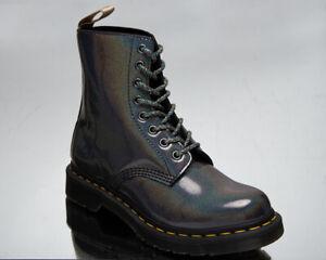 Dr. Martens Vegan 1460 Pascal Women's Gunmetal Black Casual Lifestyle Shoes