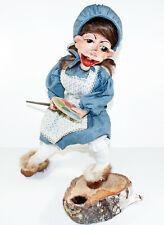 Folk Outsider Art Troll Doll Diorama 1986 Oljanna Original Rare Signed Norwegian