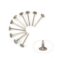 10Pcs 12mm Diamond Grinding Head Tool For Metal Carving Polishing Rotary Tools