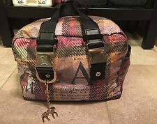 Gwen Stefani Lesportsac Plaid Toaster Purse Bag Handbag RARE Lamb