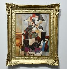 Beautiful Pablo Picasso. framed. oil on canvas. signed.