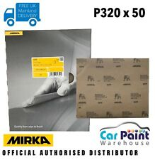 Mirka P320 WPF Wet & Dry Sanding Sheets Quire 50pk Waterproof Sand Paper or and