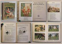 Onkel Antons Kindergeschichten um 1925 Kinderbuch illustriert farbige Bilder xz