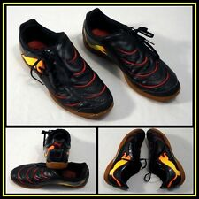 PUMA Black Red Yellow Low Top Athletic/Indoor Soccer Shoe Men Sz (12) #11364