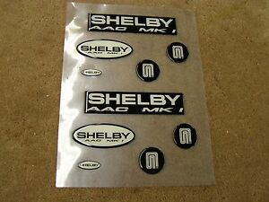 NOS OEM Ford 1992 SAAC Mustang MK1 Shelby Emblem Badge Kit Fox Body
