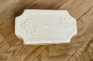 Jonathan Adler Key Keeper Small Ivory Ceramic White Trinket Box Handmade In Peru
