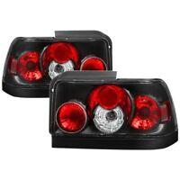 Spyder Auto 5007407 Euro Style Tail Lights (Black) Fits 93-97 Toyota Corolla