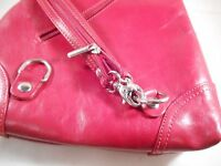 EDEL Ledertasche Damentasche Rot Leder Rucksack Schulter italienische Tasche NEU