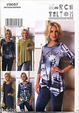 VOGUE SEWING PATTERN 9057 MISSES 16-26 MARCY TILTON PULLOVER TOPS, IN PLUS SIZES