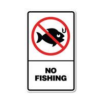 No Fishing Sticker No Fishing Sticker prohibited signage. 7754