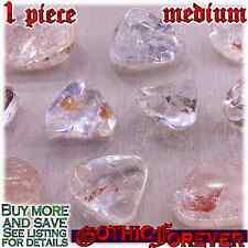 1 Medium 20mm Combo Ship Tumbled Gem Stone Crystal Natural - Quartz Included