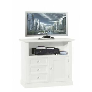 TV Cabinet White Matt, cm84x40x80H