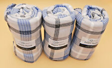 "set of 3 Soft Throw Blanket Plush Fleece Couch Sofa Bed Blue Grey 50"" x 60"""