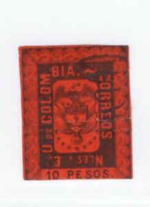 Colombia,Scott#52,10p,used,Scott=$200