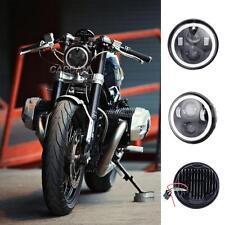 "5.75"" Motorcycle LED Headlight for Street Bob 2006-2017 Softail cross bone 08-11"