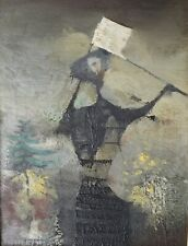 Juan Batlle Planas (Argentinian 1911-1966) Oil Painting on board abstract figure