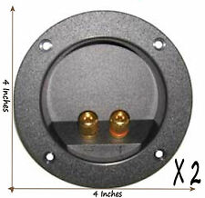 2 Speaker Gold Binding Post Terminal Board Cup for Sub Subwoofer Box Custom 4""