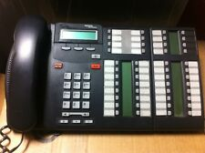 Nortel Norstar BCM T7316E Charcoal LCD Phone with T24 Key Indicator Module