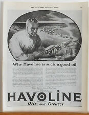 Vintage 1923 magazine ad for Havoline Oil - Why Havoline is such a good oil