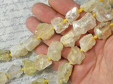 Mystic Aura Beads Quartz Crystal Pale Gold with Purple Rough Nugget #5227