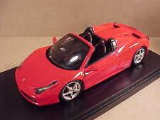Fujimi 1/43 Ferrari 458 Open Top Spider, Red  #FJM124320