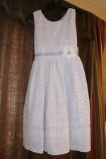 NWT Jona Michelle Girls Dress white/ Purple Lining Size 12 Dress
