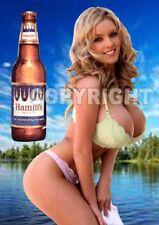 Fridge Magnet Sexy Hamm's Beer Minnesota lake busty blonde bikini babe bar art