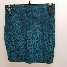 Mudd XS Mini Skirt Lined Elastic Waist Animal Print Extra Small