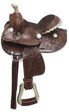 """7"""" Fully tooled Double T  pony saddle"""