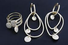 Turkish Handmade Ottoman Roze Color 925 Sterling Silver Topaz Sets Ring Size 7