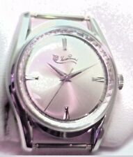 New NOS Antique Vintage LUCIEN PICCARD Swiss Stainless Steel Mens Wrist Watch 1Z