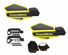 PowerMadd STAR Series Handguard Guards Mirror Mount Kit Yellow Black Yamaha ATV