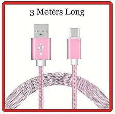 3 Meter Long Cord For Samsung Galaxy S7 EDGE S6 S5 Charger Cable USB Data cord