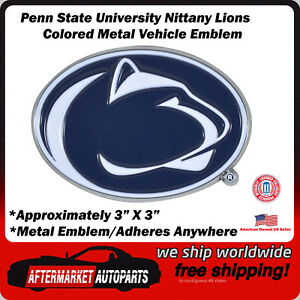 Penn State University Nittany Lions Colored Metal Car Auto Emblem Decal