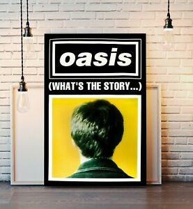 OASIS GALLAGHER WHATS THE STORY POSTER CANVAS WALL POP ART PRINT DEEP FRAMED