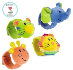 """Hand Plush Rattle """"Friends from the jun"""" toy Funky Pals  Baby Activity Infant 0m"""