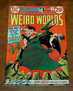 WEIRD WORLDS #4 (DC, 1972)  Tarzan John Carter Warlord of Mars VF-/VF Condition