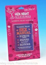 Hilarious Bride to Be Wedding Night Survival Sex Manual Hen Night Joke Gift