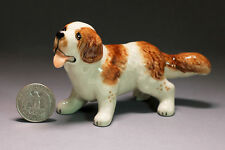 St. Bernard dog Miniature Ceramic Animals Figurine,Collectibles,terrarium dogs
