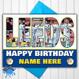 Leeds United Personalised Birthday Card Any Name or Relative Age